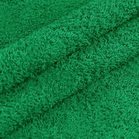 Ткань на отрез махровое полотно 220 см 380 гр/м2 цвет зеленый фото