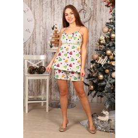 Пижама Царица шорты цветные сердечки Б16 р 56 фото