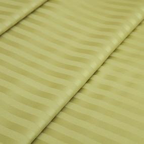 Ткань на отрез страйп сатин полоса 1х1 см 220 см 135 гр/м2 цвет 312 фисташковый фото