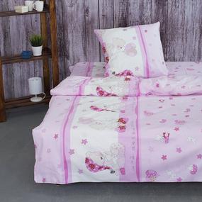 Детское постельное белье из поплина 1.5 сп 1636/4 Мой ангелочек розовый фото