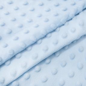 Мерный лоскут Плюш Минки Китай 180 см/135 см цвет голубой фото
