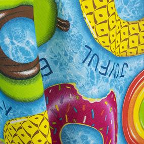 Полотенце вафельное пляжное Я010654 Релакс 150/75 см фото
