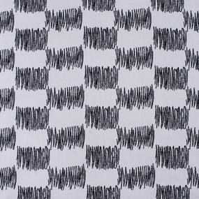 Мерный лоскут кашемир Ш-1 Штрих цвет черно-белый 0,95 м фото