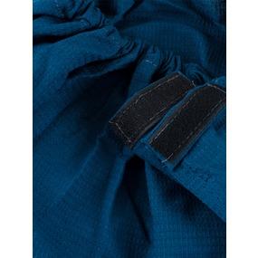 Вафельная накидка на резинке для бани и сауны мужская цвет индиго фото