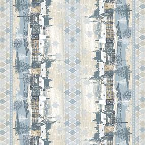 Ткань на отрез вафельное полотно набивное 150 см 202691В Тихий вечер фото