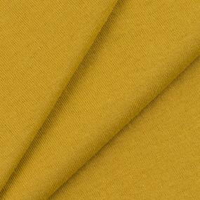 Ткань на отрез кулирка 5142 цвет горчичный фото