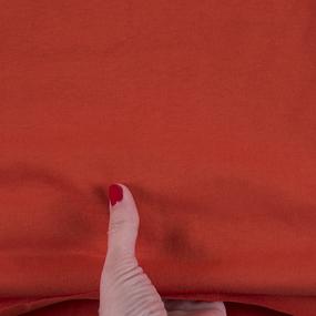 Ткань на отрез кулирка 4004 цвет оранжевый фото