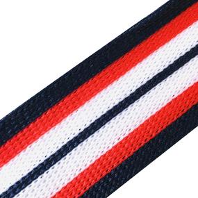 Лампасы №93 черный красный белый 2.5 см уп 10 м фото