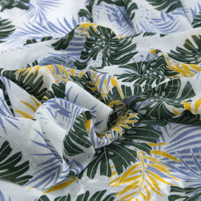 Ткань на отрез шифон 150 см 2279 Тропики цвет зеленый фото