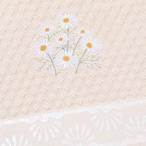 Полотенце махровое Sunvim 18B-1 Ромашки 50/90 см цвет персиковый фото