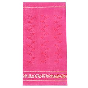 Полотенце велюровое Европа 50/90 см цвет розовый с вензелями фото