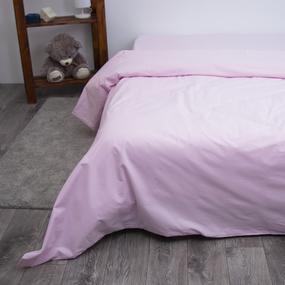 Пододеяльник из поплина Розовый, Евро фото