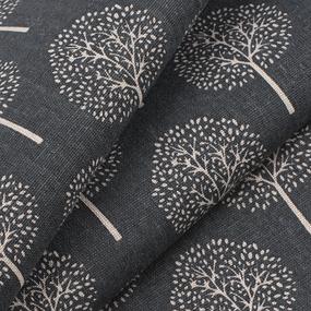 Ткань на отрез лен TBY-DJ-22 Деревья цвет серый фото
