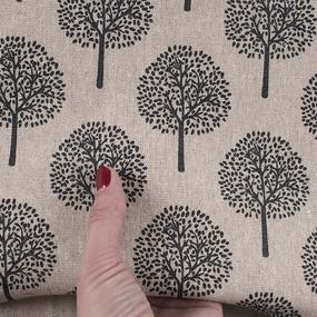 Ткань на отрез лен TBY-DJ-20 Деревья цвет бежевый фото