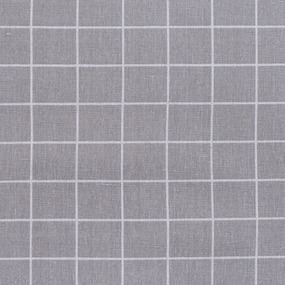 Ткань на отрез лен TBY-DJ-03 Клетка цвет серый фото