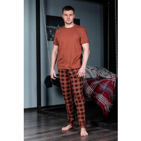 Пижама футболка+брюки 1000-19 цвет Шоколадный р 58 фото