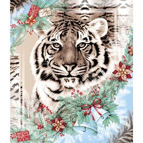 Вафельное полотно 50 см 170 гр/м2 209311 Год тигра 1 фото