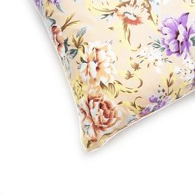 Подушка Лебяжий пух Цветы 003 цвет персиковый 60/60 фото