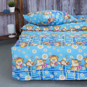 Детское постельное белье из бязи 1.5 сп 837/2 цвет синий фото