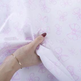 Поплин 150 см 1770/5 Бантики Б/З цвет розовый фото