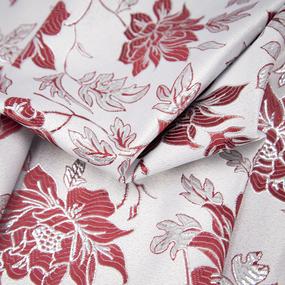 Портьерная ткань с люрексом 150 см на отрез H627 цвет бордовый фото