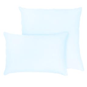 Наволочка на молнии Трикотаж цвет светло-голубой 50/70 фото