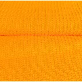 Ткань на отрез вафельное полотно гладкокрашенное 150 см 165 гр/м2 цвет апельсин фото