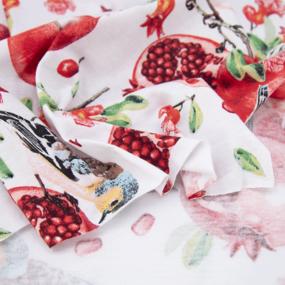 Ткань на отрез кулирка R11079-V2 Райский сад цвет белый фото