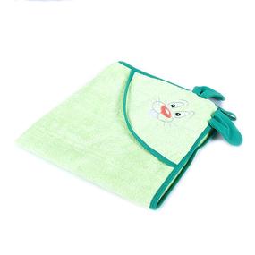 Уголок детский махровый с вышивкой салатовый фото