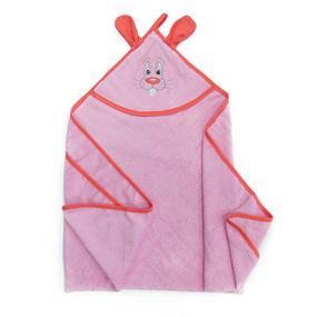 Уголок детский махровый с вышивкой розовый фото