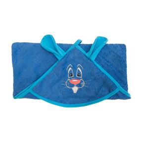 Уголок детский махровый с вышивкой василек фото