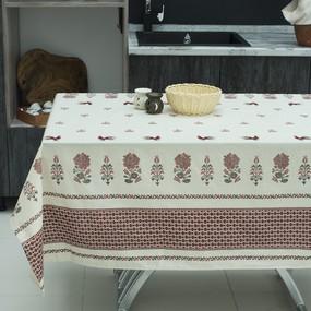 Скатерть полулен 4014/1 Петушки 150/260 фото