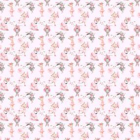 Ткань на отрез бязь премиум ГОСТ детская 150 см 13211/1 Балеринки на розовом фото