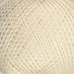 Нитки для вязания Ирис 100% хлопок 25 гр 150 м цвет 0102 молочный фото