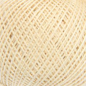 Нитки для вязания Ирис 100% хлопок 25 гр 150 м цвет 0103 слоновая кость фото