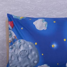 Наволочка перкаль детская 13095/1 Пластилиновый космос в упаковке 2 шт 50/70 см фото