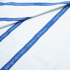 Мерный лоскут лен купонный полоса цвет синий фото