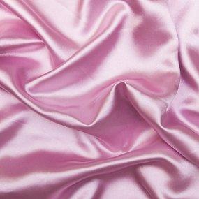 Мерный лоскут шелк искусственный 100% полиэстер 220 см цвет розовый фото