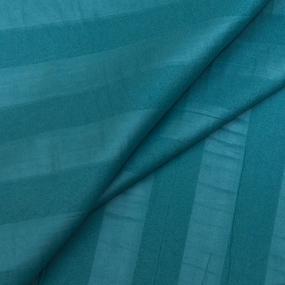 Мерный лоскут страйп сатин полоса 3х3 см 220 см 135 гр/м2 изумруд фото
