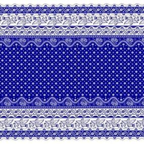 Мерный лоскут полулен 150 см 4779/1 синий фото