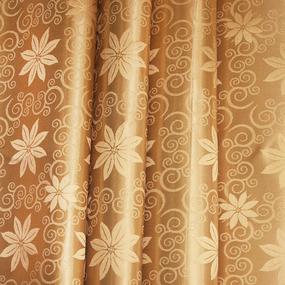 Мерный лоскут портьерная ткань 150 см 37 цвет золото 2 цветы фото