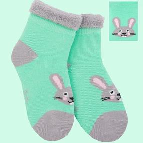 Носки Кролик детские плюш р 12-14 фото