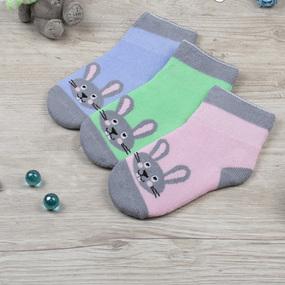Носки Кролик детские плюш р 14-16 фото