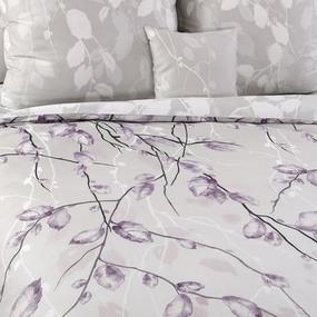 Ткань на отрез сатин набивной 220 см 205544 Весенний шепот компаньон 4 серо-розовый фото
