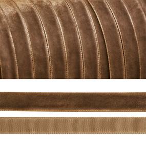 Лента бархатная 20 мм TBY LB2007 цвет бежевый 1 метр фото