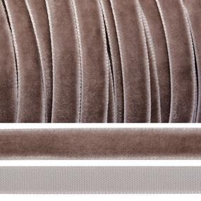 Лента бархатная 20 мм TBY LB20327 цвет пыльно-сиреневый 1 метр фото