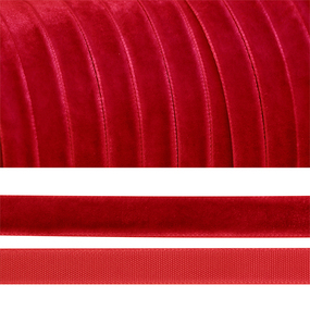 Лента бархатная 20 мм TBY LB2042 цвет т-красный 1 метр фото