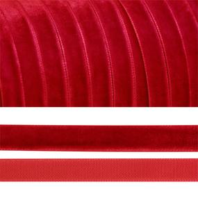 Лента бархатная 6 мм TBY LB0642 цвет т-красный 1 метр фото
