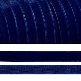 Лента бархатная 6 мм TBY LB0652 цвет т-синий 1 метр фото