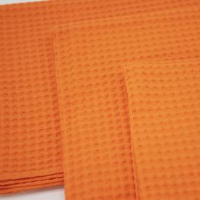 Набор вафельных полотенец Премиум 3 шт 45/70 см 164 оранжевый фото